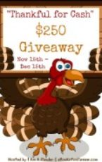 GIVEAWAY: Thankful for Cash $250 giveaway!