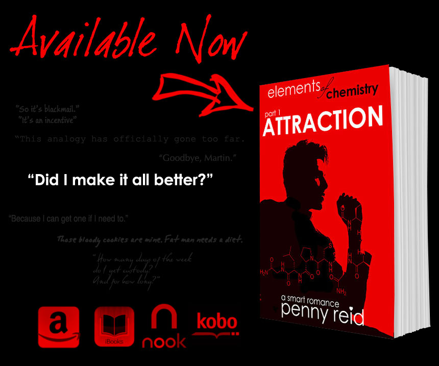 Release Day Blitz: Attraction by Penny Reid (EOC#1) + Giveaway!