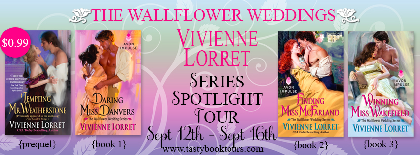 Q&A and Giveaway: The Wallflower Weddings Series by Vivienne Lorret