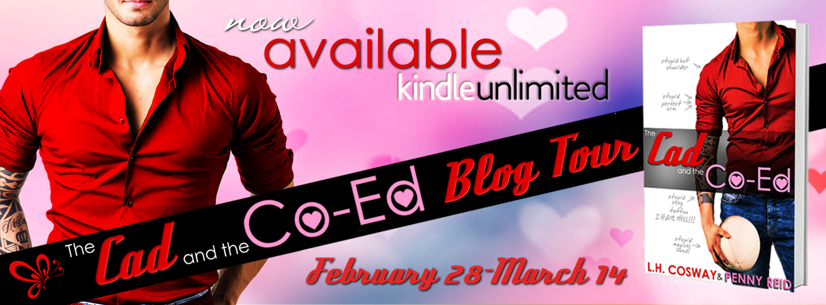 Blog Tour: The Cad and the Co-ed by L.H. Cosway and Penny Reid