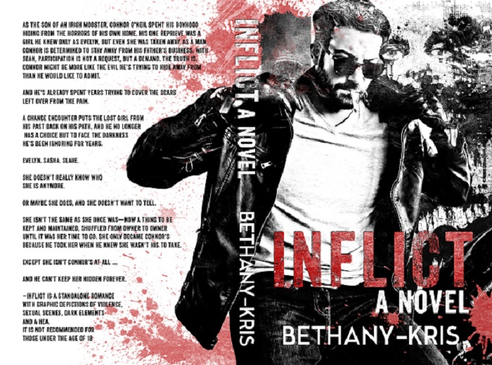 Cover Reveal: Inflict by Bethany Kris | A Fortress of Books Blog