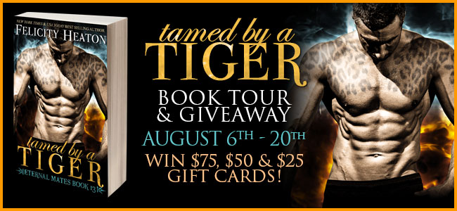 Blog Tour and giveaway: Tamed by a Tiger by Felicity Heaton