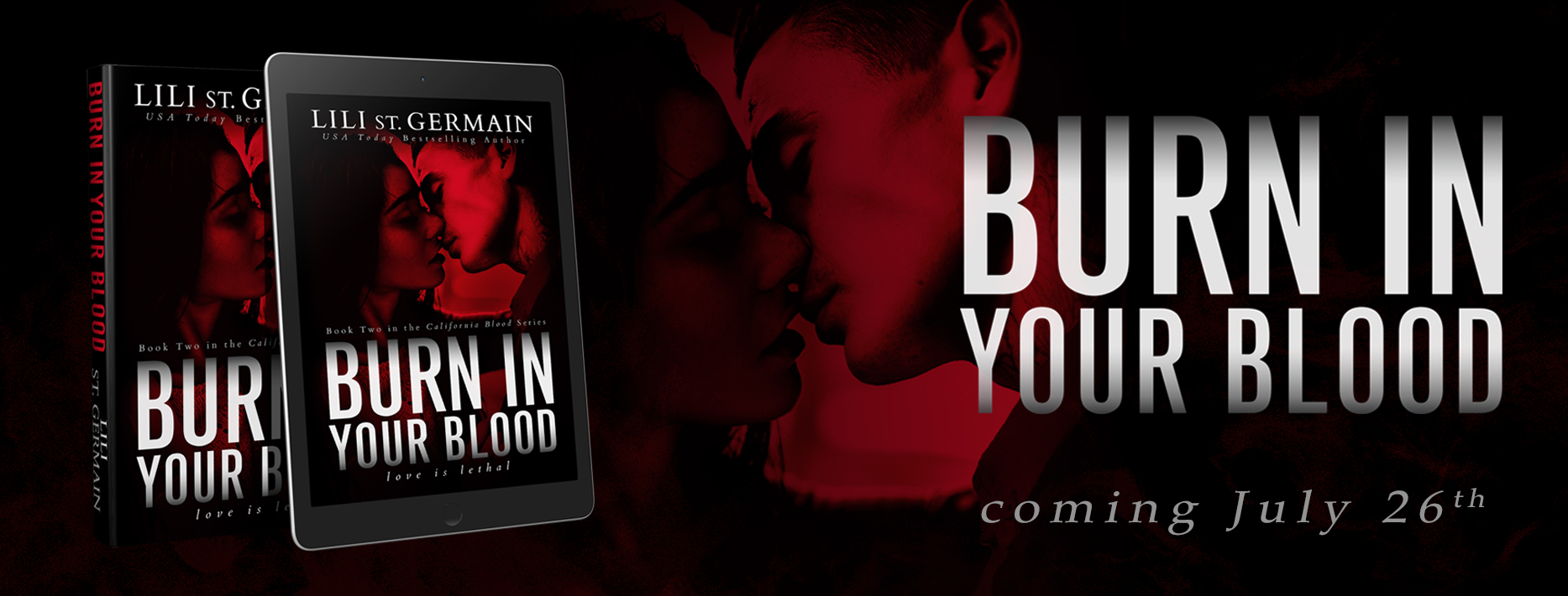 Cover Reveal: Burn In Your Blood by Lili St. Germain