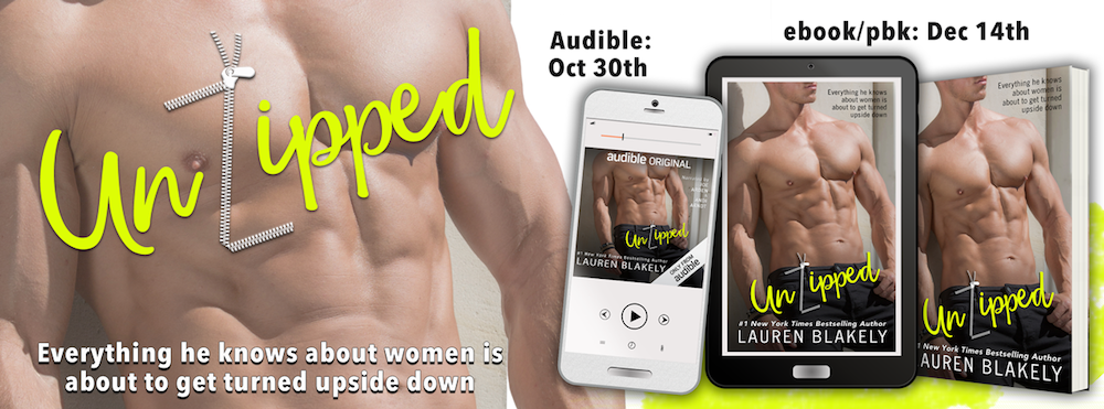 Cover Reveal: UnZipped by Lauren Blakely