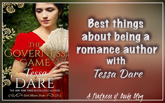 The three best things about being a romance author with Tessa Dare